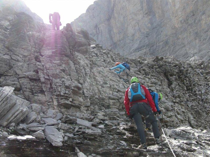 Klettersteig Eiger : Klettersteig kurs am rotstock station eigergletscher