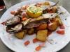 Makrelen zum Abendessen.