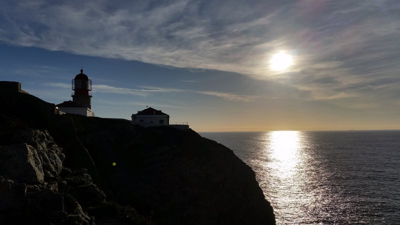 Start am Cabo de Sao Vicente bei Sagres.