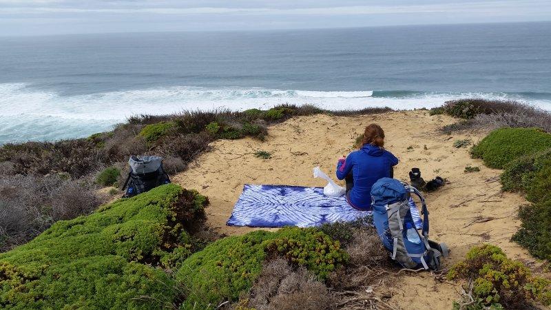 Picknick mit Meerblick.