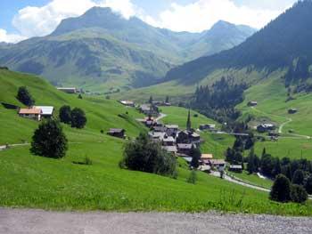 Blick nach St. Antönien (Graubünden).