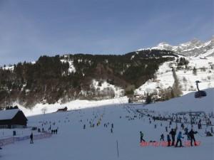 Engelberg Skiplatz Brunni beim Kloster