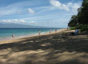Strand direkt vor dem Hotel