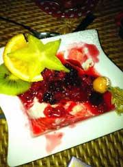 Restaurant Uhu, Braunwald, Panna Cotta Waldbeeren