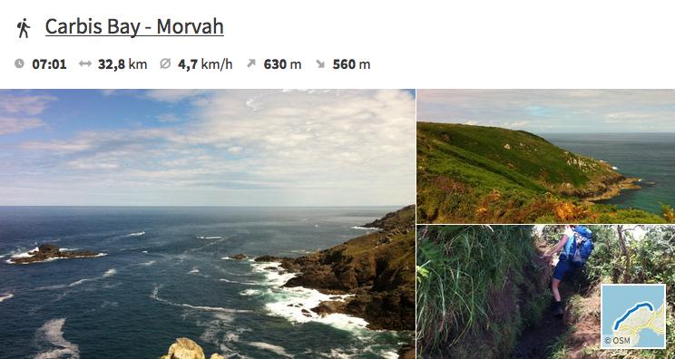 Bildimpressionen zwischen Carbis Bay und Morvah.