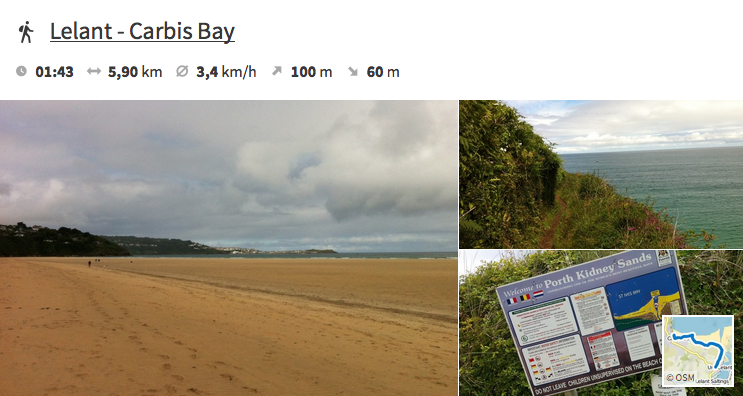 Lelant to Carbis Bay South West Coast Path Cornwall England