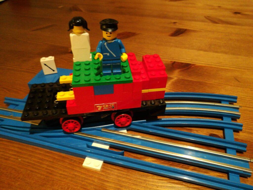 Elektrische Eisenbahn LEGO aus den 70er-Jahren.